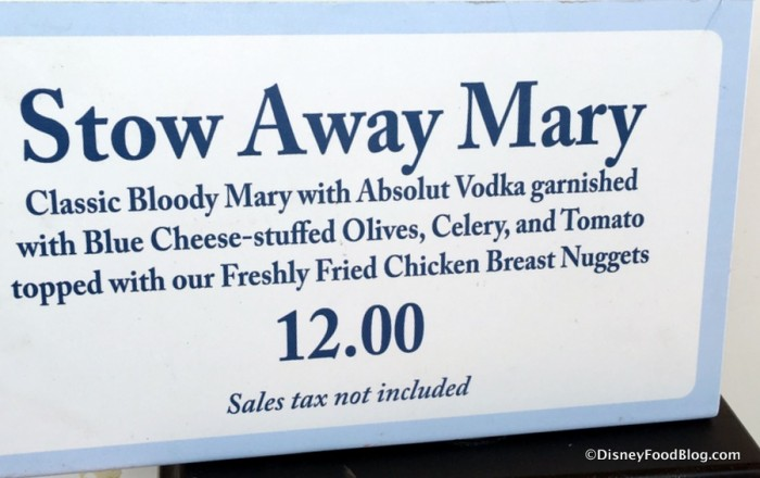 Stow Away Mary sign