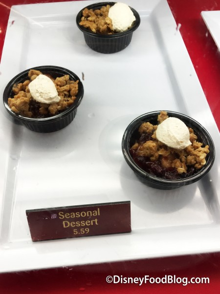 Warm Apple Crisp at Sunshine Seasons