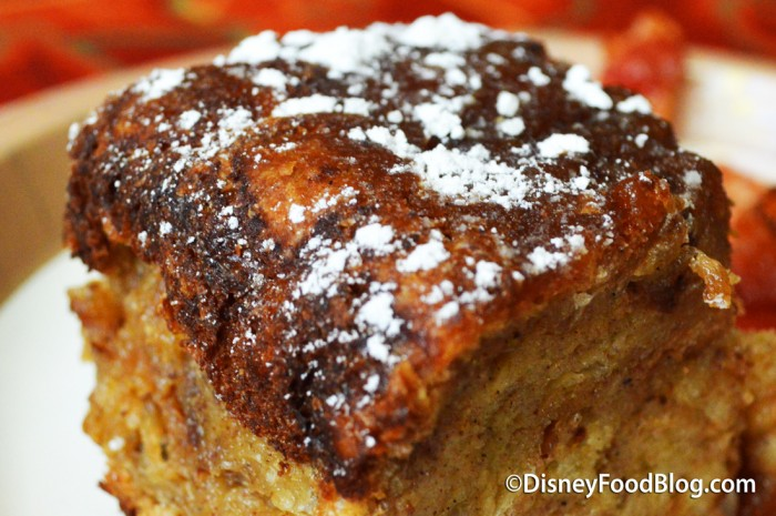 Cinnamon French Toast Bread Pudding at Sunshine Seasons