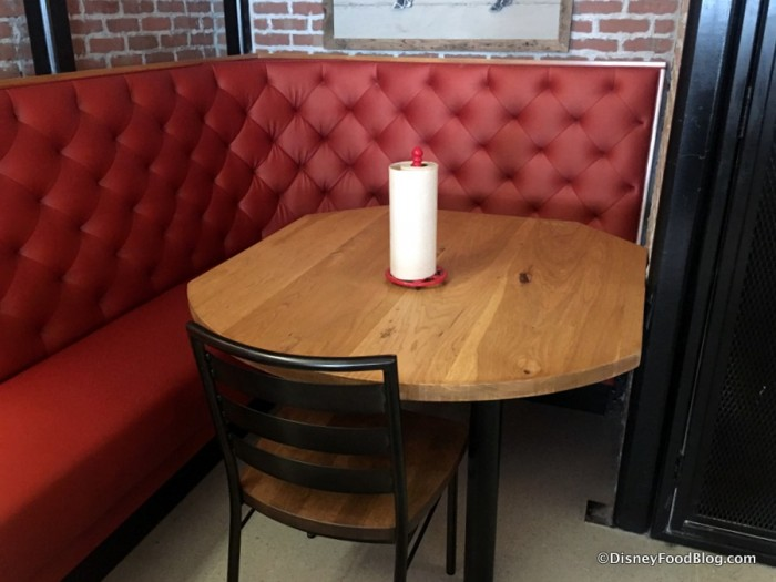 Paper towels on table