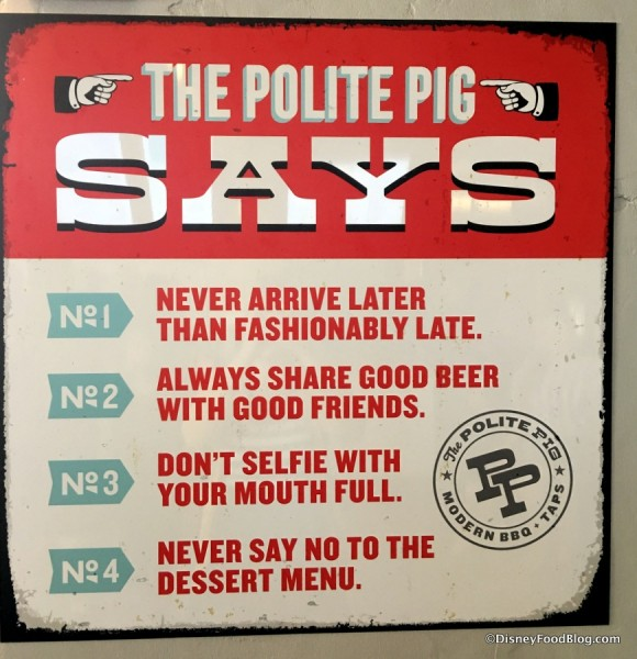 """The Polite Pig Says..."""