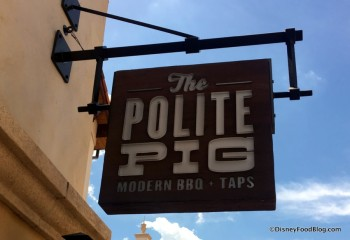 The Polite Pig sign March 2017 copy