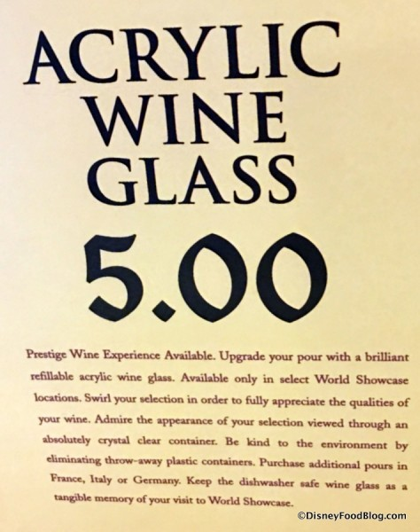 Acrylic Wine Glass Information