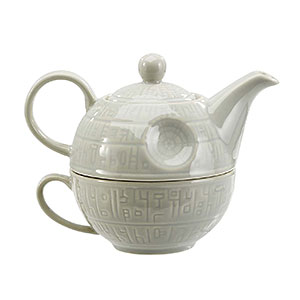 death star teapot and mug