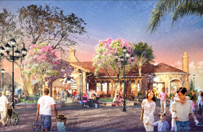 Artist rendering of new restaurant in Disney Springs ©Disney