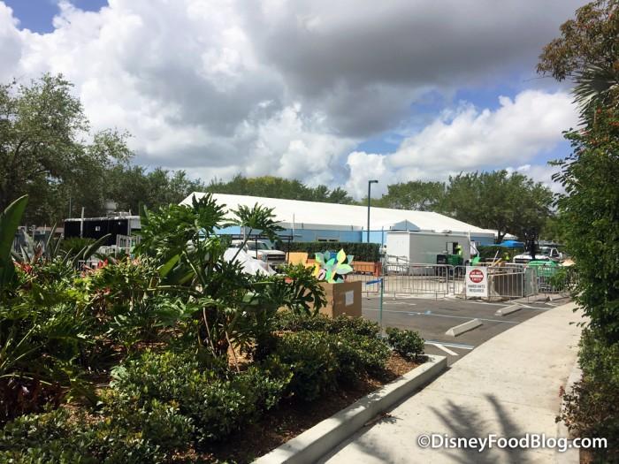 Contruction at Disney's Caribbean Beach Resort