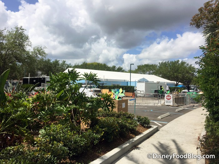 Contruction at Disney's Caribbean Beach Resort