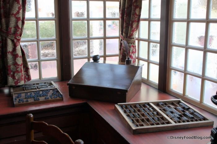 Desk and Printing Blocks