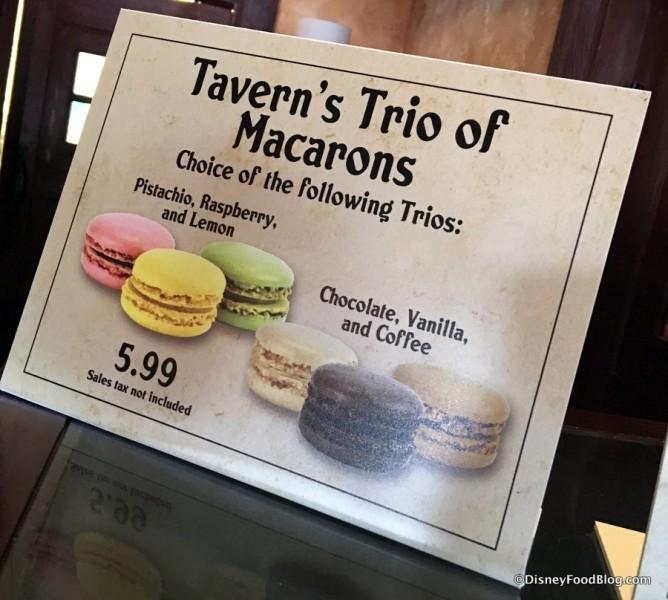 Tavern's Trio of Macarons