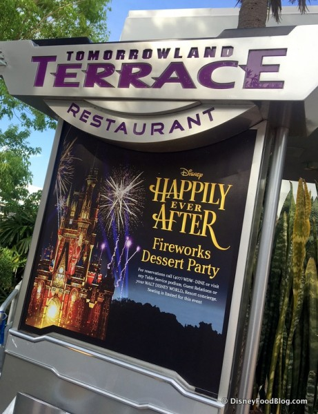 New Sign for Happily Ever After Fireworks Dessert Party