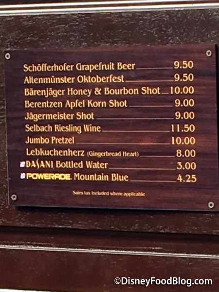 Jumbo Pretzel Menu in Germany
