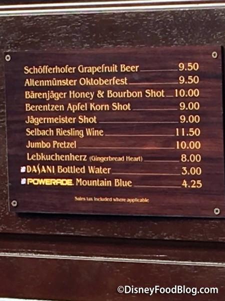 Jumbo Pretzel Menu in Germany