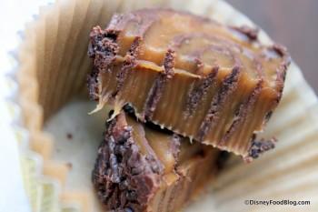 Chocolate Caramel Swirl Cross Section