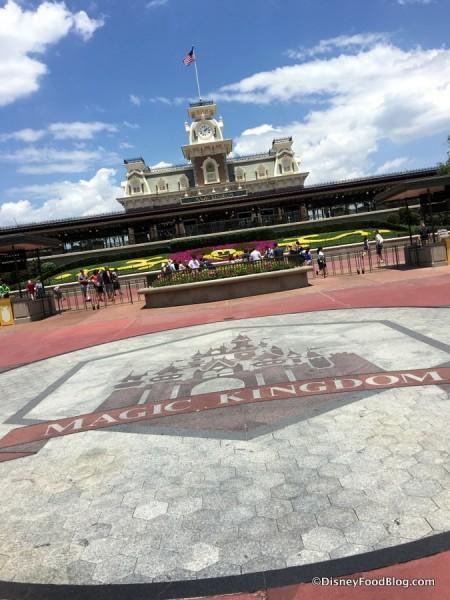 Magic Kingdom Entrance Area