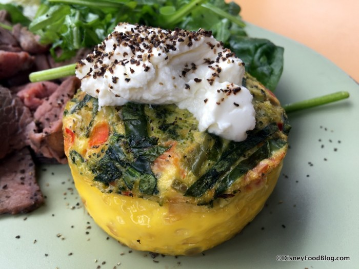 Vegetable-Goat Cheese Frittata