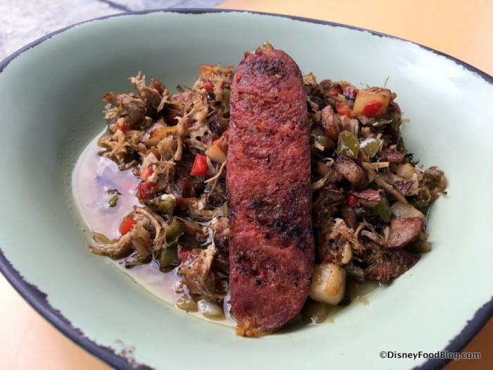 Slow-Roasted Pork Shoulder Potato Hash with Chorizo Sausage