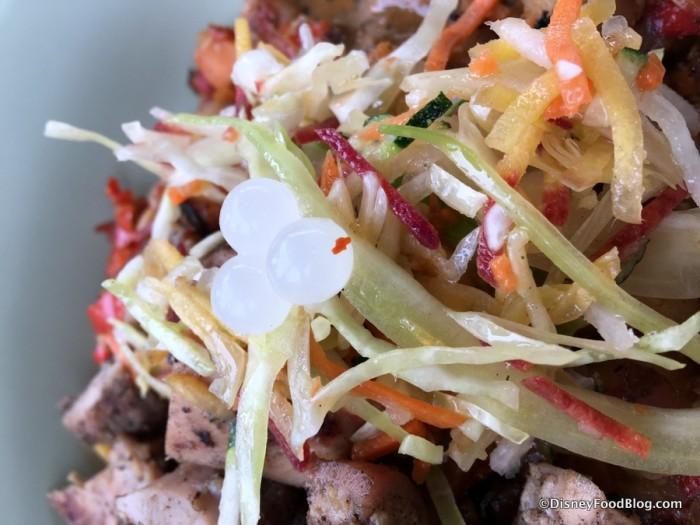 Crunchy Vegetable Slaw and Yogurt Boba Balls