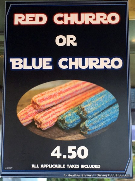 Red and Blue Churros