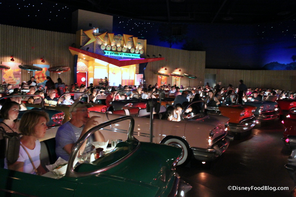 Review New Menu At Sci Fi Dine In Theater Restaurant In Disneys