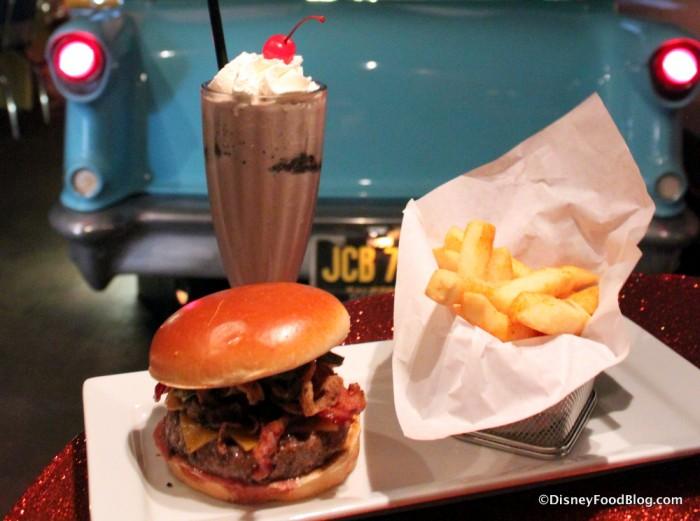 Sci-Fi Drive-In BBQ Burger Meal