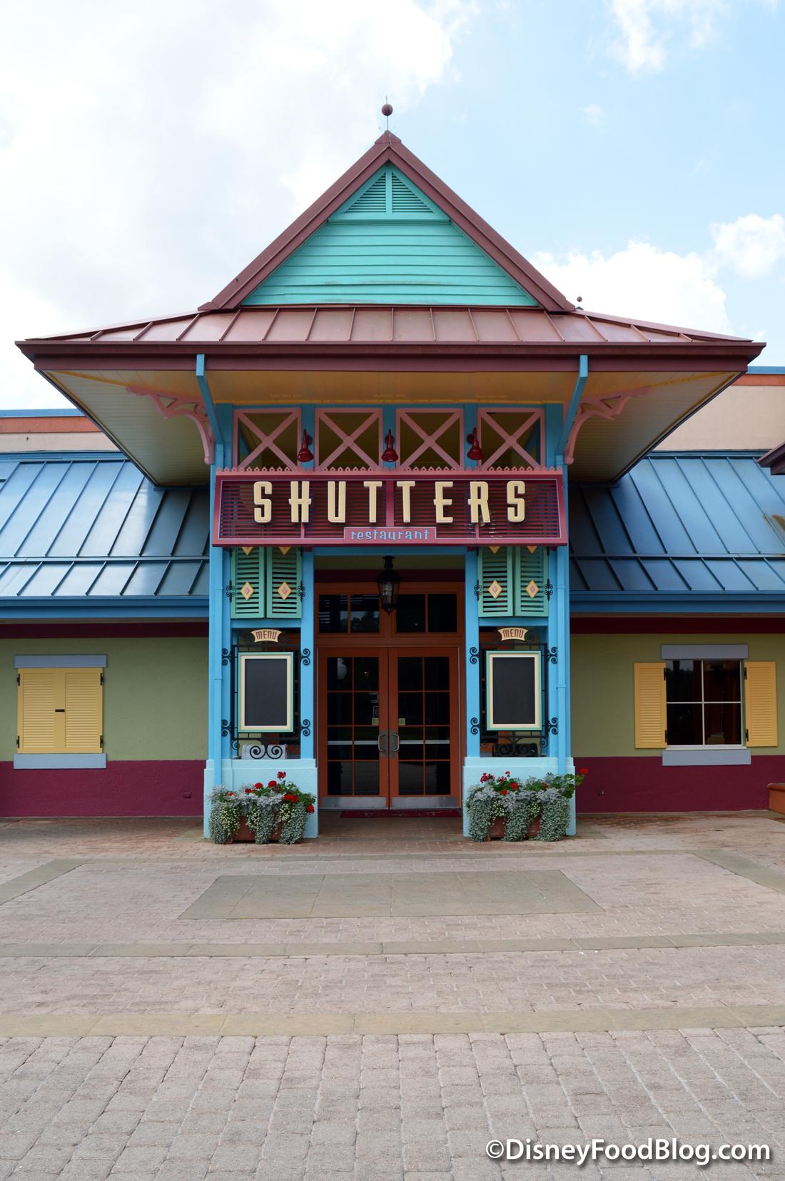 Shutters Restaurant Caribbean Beach Resort