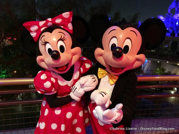 Minnie and Mickey at the Tomorrowland Skyline Lounge Experience