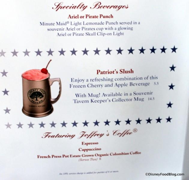 Patriot's Slush Description