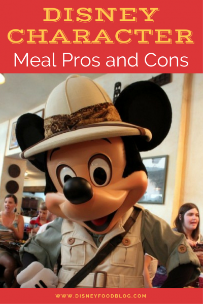 Tips from the Disney Food Blog - Disney Character Meal Pros and Cons