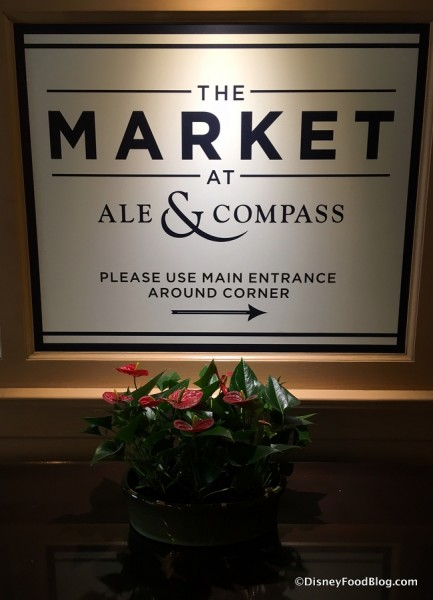 Sign for The Market at Ale & Compass