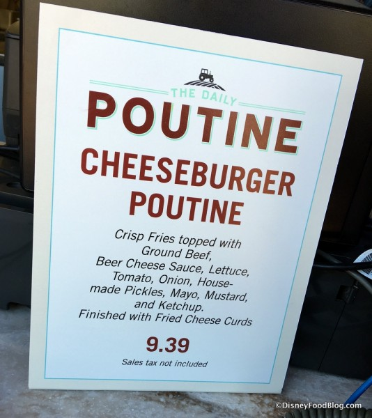 Cheeseburger Poutine Description