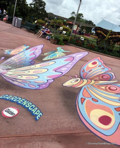 3D butterflies celebrate, too!
