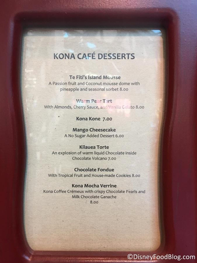 Kona Cafe Menu Sushi