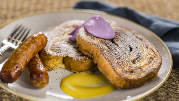 Cinnamon Swirl French Toast with Blueberry Cheesecake Dollop ©Disney