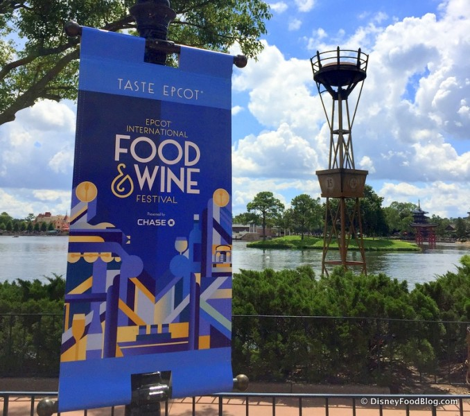 2016 Epcot Food and Wine Festival Banner