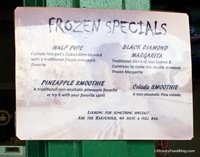 Additional Frozen Specials Sign