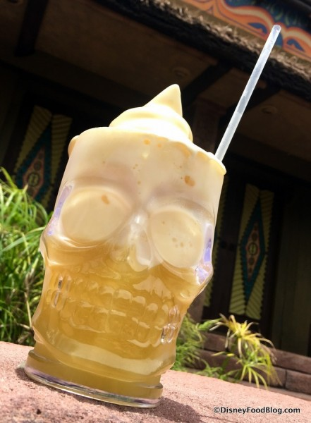 Souvenir Skull Mug with Dole Whip Float