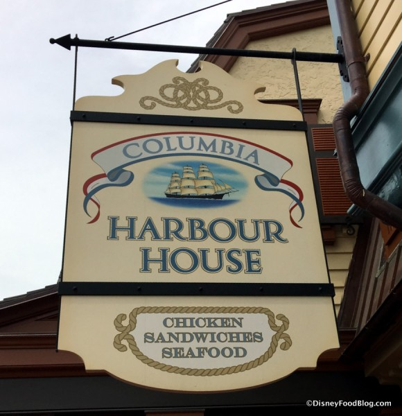 Columbia Harbour House sign