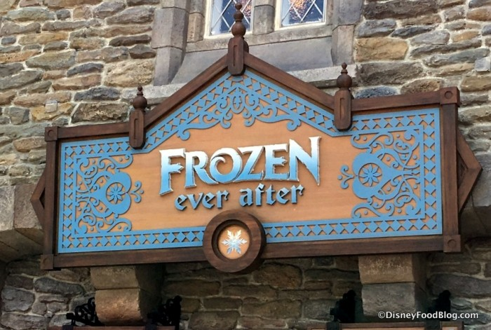 Frozen Ever After Entrance in Epcot