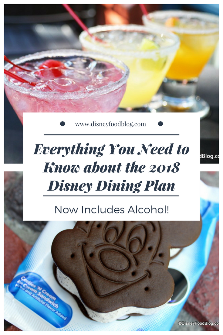News 2018 Disney Dining Plan Updates Now With Alcohol The Disney Food Blog