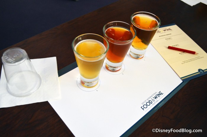Place Setting for Beer Demonstration