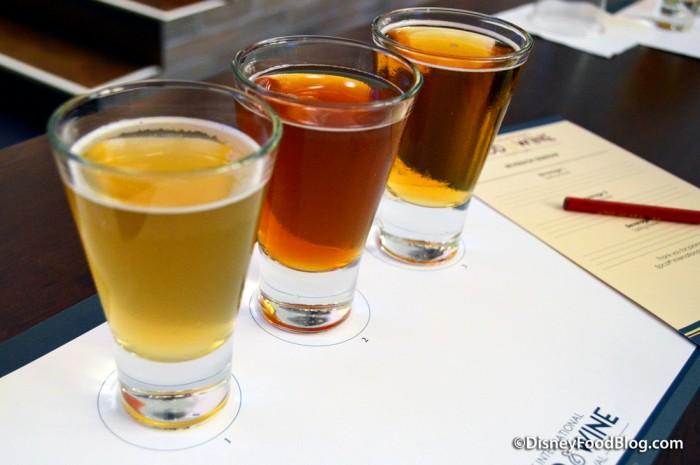 Beer Samples -- Up Close
