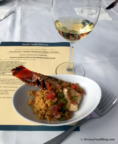 Lobster Creole with 2016 Festival Chardonnay