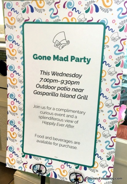 Gone Mad Party sign