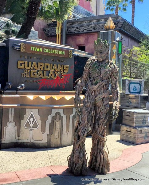 Groot at Disney California Adventure