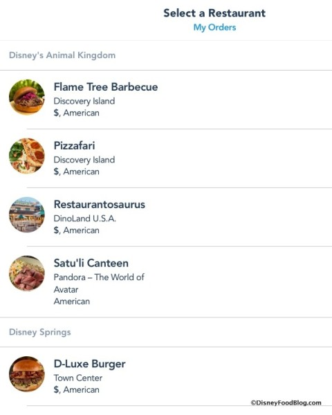 Mobile Order Screenshot