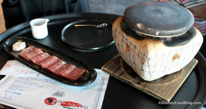 Wagyu and Cooking Stone