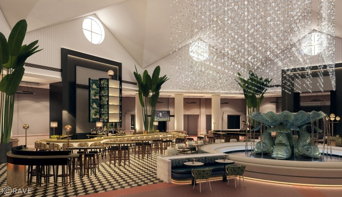 Artist's Rendering of New Lobby Bar at the Walt Disney World Dolphin Hotel