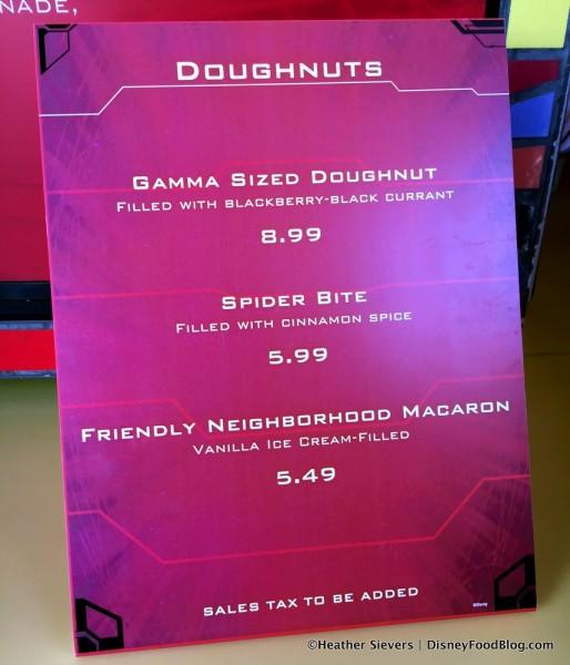 Schmoozie's Donut Menu