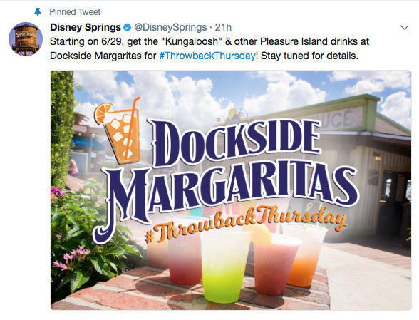 @DisneySprings Twitter