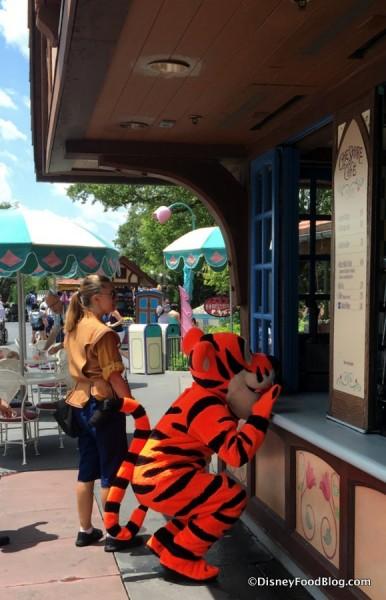 Tigger visiting Cheshire Cafe